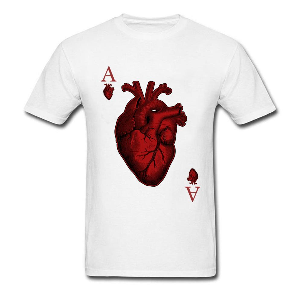100% Cotton Punk Style Tees Ace Of Hearts T Shirts Summer Tops Shirts New Arrival Crew Neck Fashion Funny Tshirts Wholesale