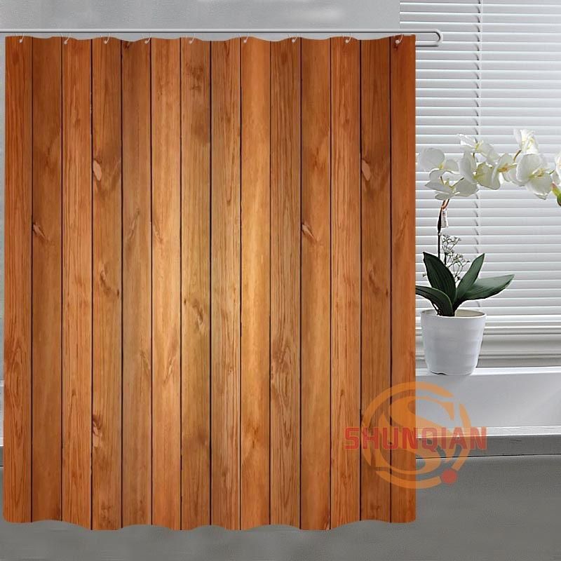2019 New Fashion Wood Custom Shower Curtain Fabric Polyester Bathroom Acceptable For Bath Room From Glenae 3148