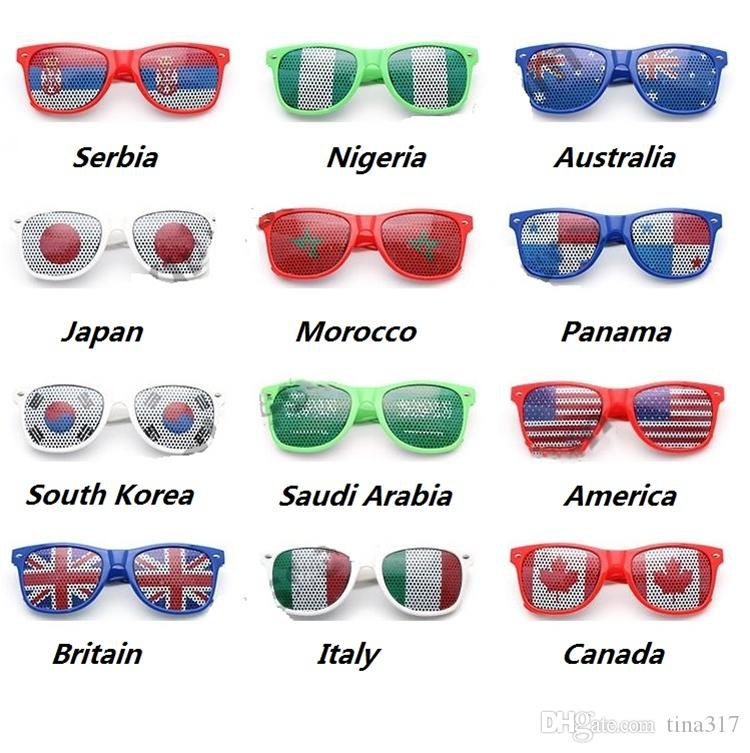 World Cup Football Festival Fans Sunglasses For National Flag Bar Party Fans Sunglasses Athletic & Outdoor eyewear C0144