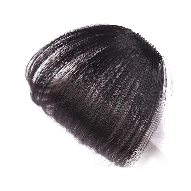 Z&F 100% Human Handmade No Sideburns Fringe Blunt Bangs With Temples No Sideburns New Arrival