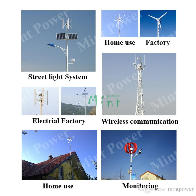 200W 3blades AC 12/24V wind turbine generator with low start wind speed 2m/s for home use