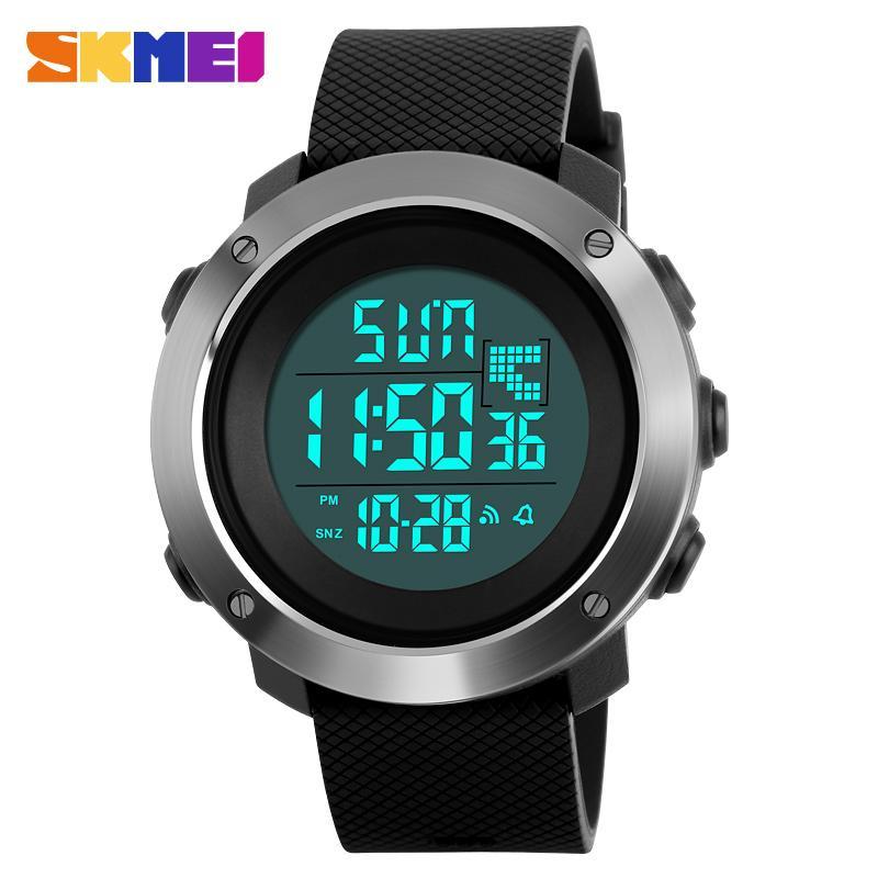 34872dc2ba8 Compre Skmei 1268 Men Sports Relógios Cronógrafo Duplo Tempo Digital  Relógios De Pulso 50 M Resistente À Água Led Display Watch Relogio  Masculino De ...