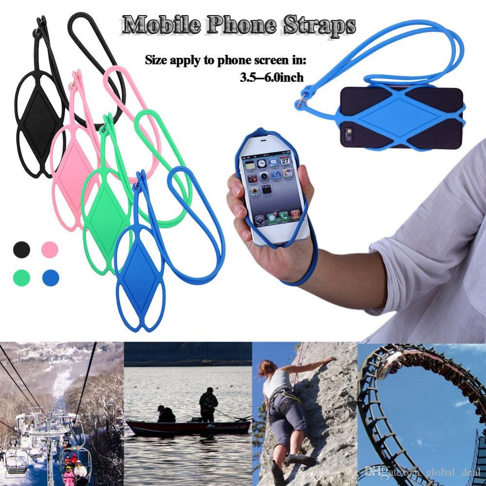 Universal Silicone Cell Phone Lanyard Holder Case Cover Phone Neck Strap Necklace Sling For iPhone 6 7 5s HTC Samsung Xiaomi