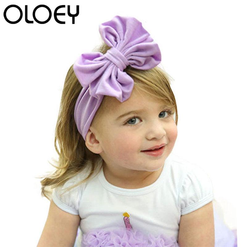 Big Bow Plain Cotton Turban Baby Headband For Girl Kids Stretch Hair Band  Head Wrap Baby Clothing Hair Accessories Toddler Girl Hair Accessories  Designer ... ed65bc915f0