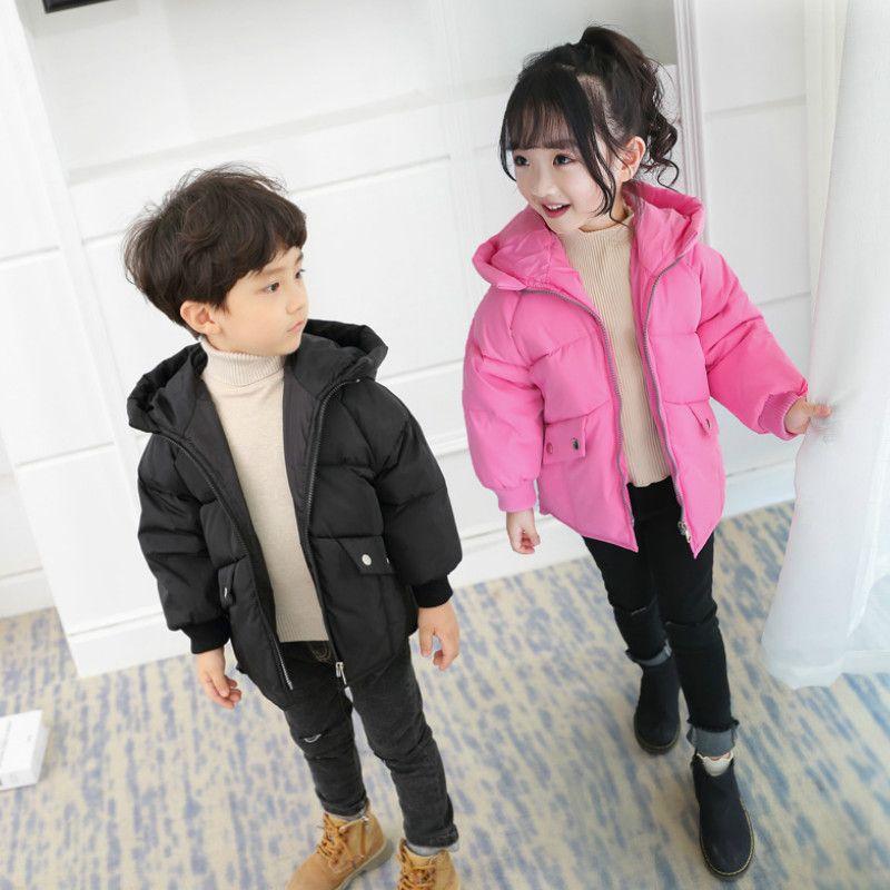 d92f20e70a84 Winter Girl Boys Down Hooded Coat Jackets Snowsuit Coat Warm Hooded ...