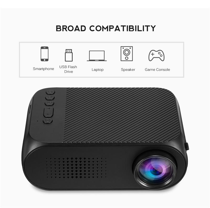 NEW YG320 Mini LED Projector HD 1080P Home Theater Multimedia Player Support USB HDMI TV Media Movies Players Beamer Portable Cinema