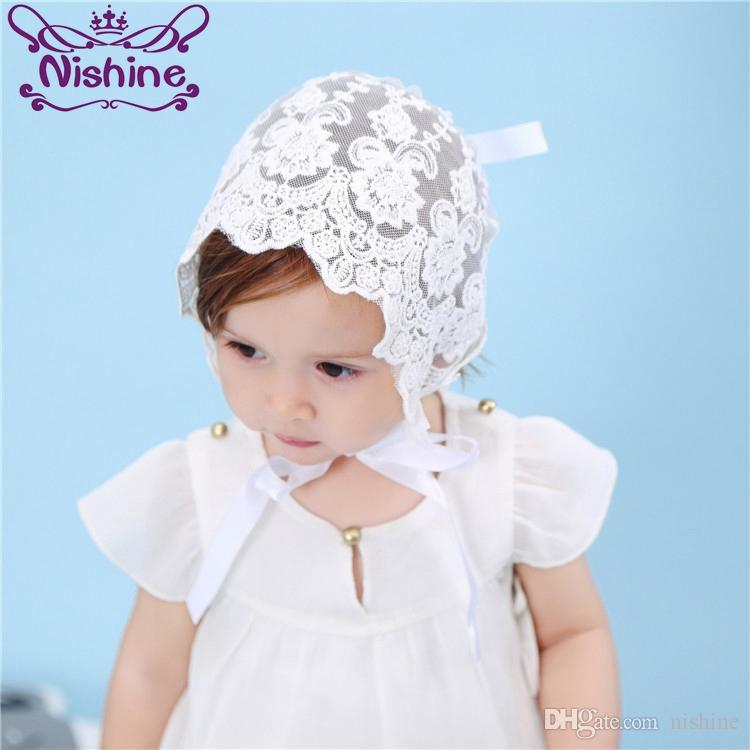 Nishine Lace Baby Hat Girl Boy Toddler Lovely Infant Kids Caps Newborn  Photo Lacing Hat Solid Colors 14X17cm Baby Photography Props UK 2019 From  Nishine deca43c678fc