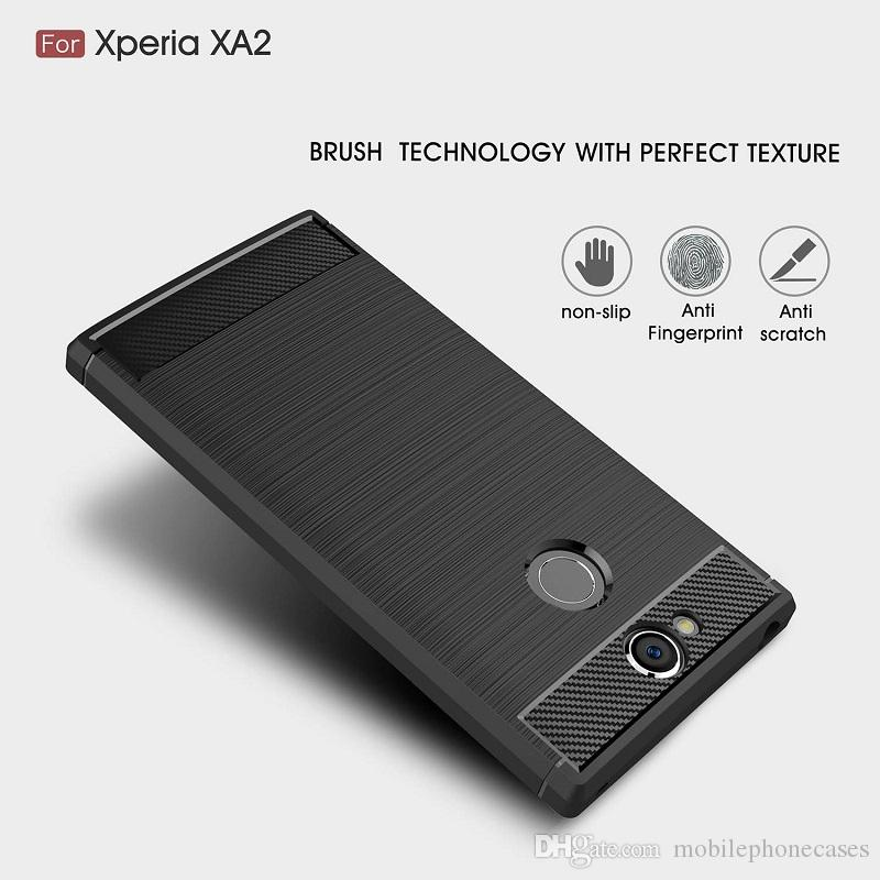 CellPhone Cases For Sony Xperia XA2 TPU Carbon Fiber heavy duty case for Sony XA2 Ultra cover