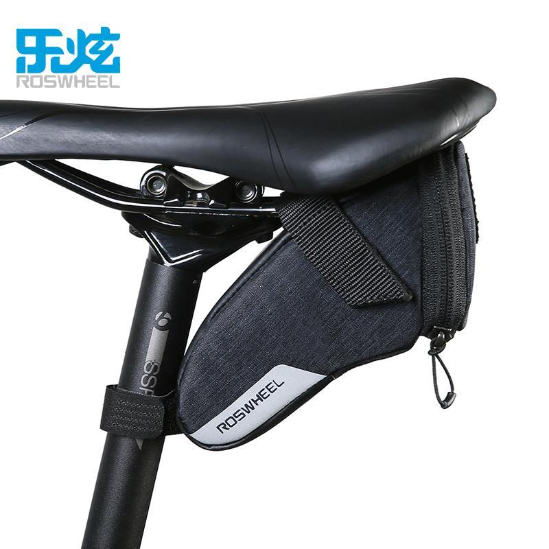 afa4a4a9257 ROSWHEEL Bolsa De Sillín Para Bicicleta Impermeable Bolsa De Asiento Bolsas  De Bicicleta Alforjas Bolsa De Almacenamiento Para Bicicleta De Carretera  ...