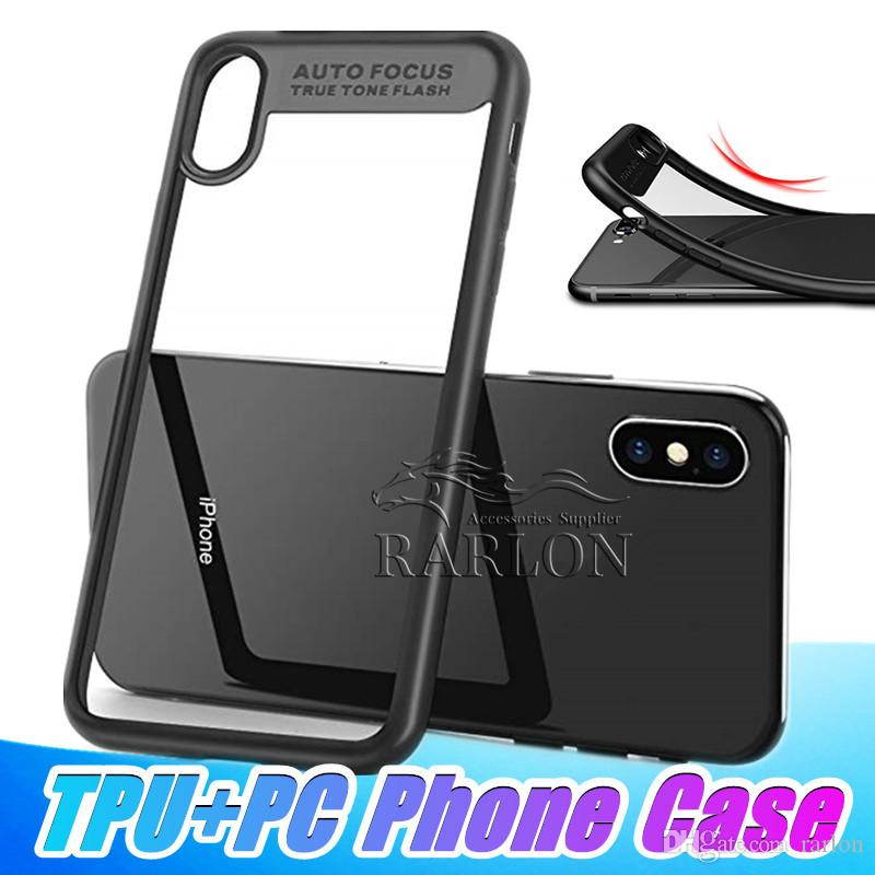 Hot Sale Full Protective Case Back Cover Case Soft TPU And Hard Clear PC Phone Protecto Cases for Samsung S8 S9 Plus Note 9 8 Huawei p20 pro