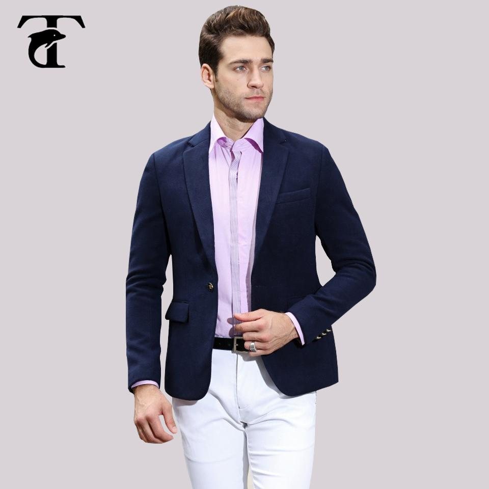 6235ce7946c Men s slim fit suit thick woolen Leisure Business texture newest sample  Custom casual blazer navy blue Red coat jacket design