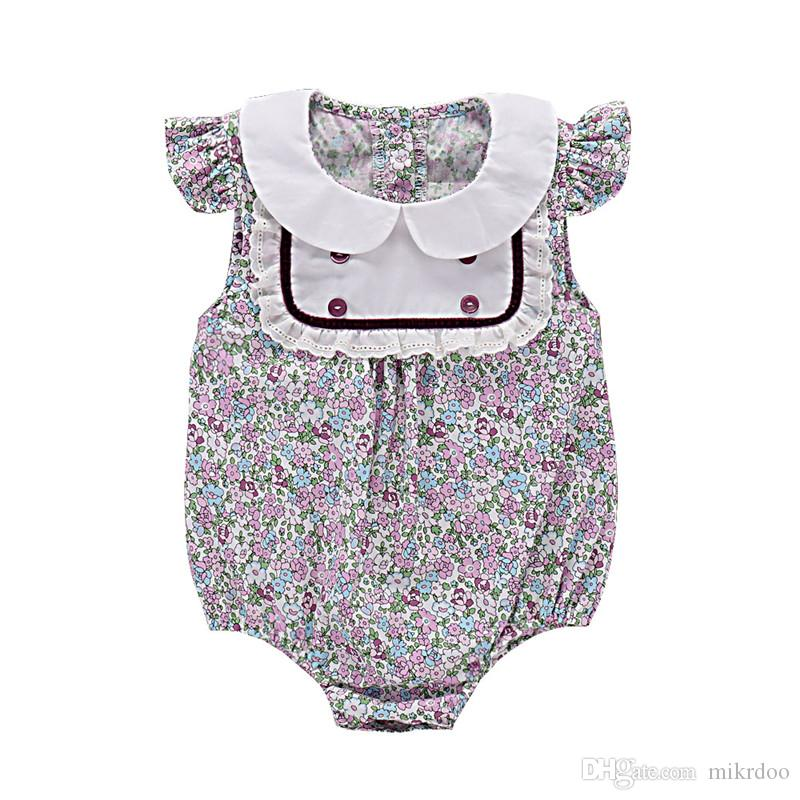 aa102693f 2019 Mikrdoo Baby Girl Sweet Clothes Toddler Sleeveless Peter Pan ...