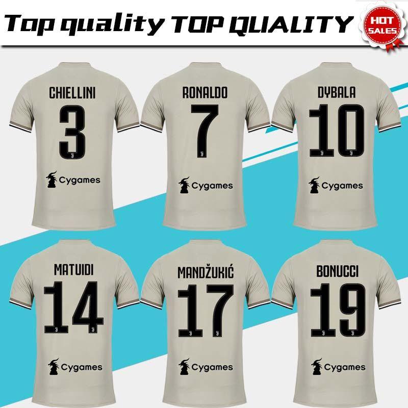 cbe461291 2019 Juventus Away Soccer Jersey 18 19 7 RONALDO DYBALA Soccer Shirt ...