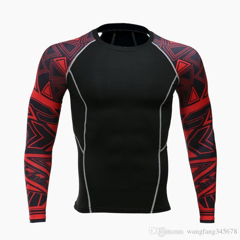 6615b41b2 Mens Fitness 3D Prints Long Sleeves T Shirt Men Bodybuilding Skin Tight  Thermal Compression Shirts MMA Crossfit Workout Top Gear Funny T Shirt  Slogans Shirt ...
