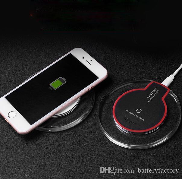 31add10d54c Cargadores De Baterias De Celulares Cargador Inalámbrico Crystal Fantasy Qi Para  IPhone X 8 Plus Cargador Mini Para Samsung S6 S7 Edge Plus S8 Cargador De  ...