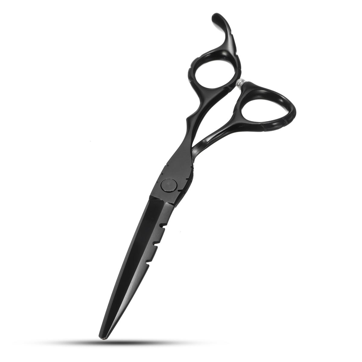 Black Hairdressing Straight Thinning Styling Scissors Professional Hair Cutting Tartnes Shears Flat Teeth Blades Tool