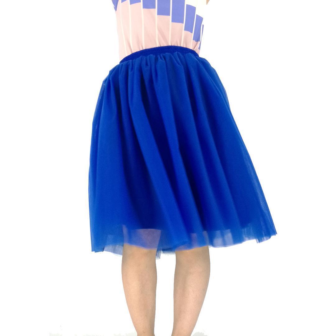 f6482d1a560585 Großhandel Nach Maß Beste Qualität 7 Schichten Midi Tüll Rock Blau Tutu Röcke  Damen Petticoat Elastischer Gürtel 2017 Sommer Faldas Saia Jupe Von Roberr,  ...