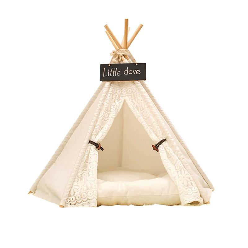 White Color Pet Tent / Pet Bed / Dog Bed Cat Teepee Tent Play House For Hot Selling With Mat Kids Indoor Tents Indoor Tents For Kids From Dynan ...  sc 1 st  DHgate.com & White Color Pet Tent / Pet Bed / Dog Bed Cat Teepee Tent Play ...