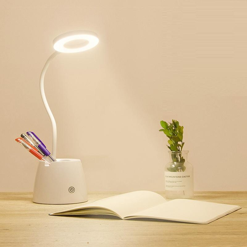 Foyer Charge Éclairage Bureau En Gros Lumière Lecture Moderne Led De Oeil Pliant Pince Chambre Lampe Étude Table Tableau Lampes 3AjRL54