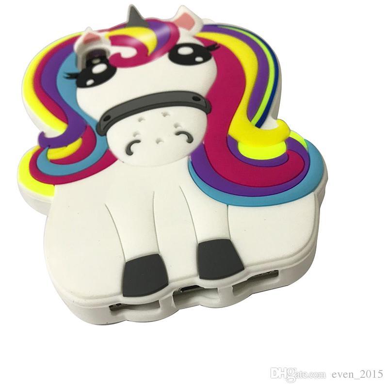 For Iphone 6s 7 8 Plus X White Unicorn Rainbow Horse Silicon Cases Samsung S8 S9 J7 Prime Case