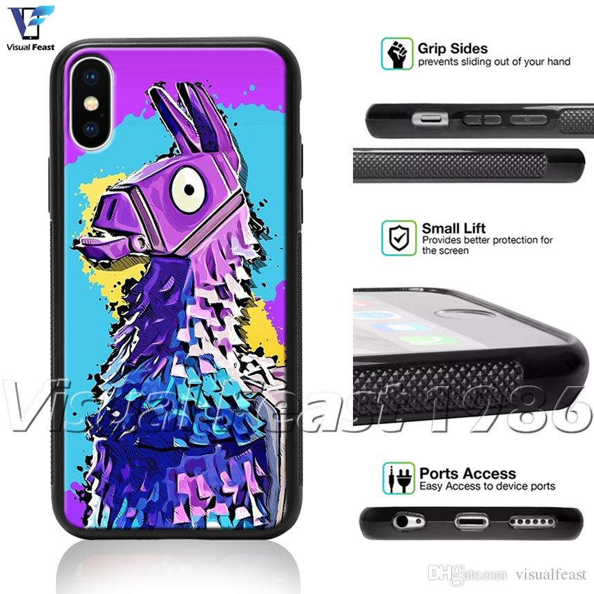 promo code e03da 6bafd Llama Fortnite Phone Case Battle Royale For iPhone X 8/7/6/6s Plus 5s SE  Phone Cover Free Gift