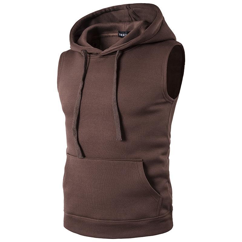 88a005ce0bd9d Fashion Slim Fit Autumn Men Warm Vest Solid Casual Hooded Vest Sleeveless  Jacket Winter Plus Size Gilet Homme Waistcoat Z30 Mens Warm Vest Gilet  Homme ...