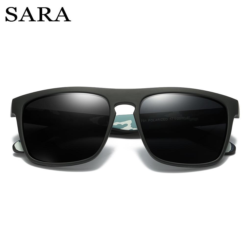 c8bfa0dfd370d SARA Brand Fashion Male Sun Glasses Sports Style Polarized Sunglasses For  Men Classic Design Mirrored UV400 Square Eyewear Knockaround Sunglasses  Sunglases ...