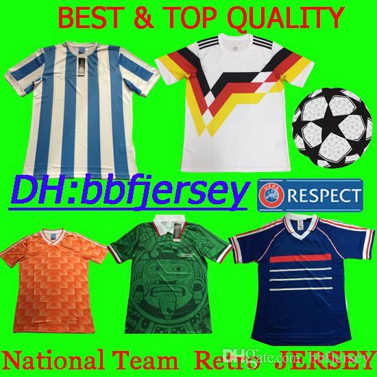 2019 Thailand Nationa Team Retro Jerseys Soccer Jerseys Netherland Messi  JERSEY Mbappe Germany PAYET Pogby Ronaldo Kids Kit Mexico Football Shirt  From ... 9c784e6ae