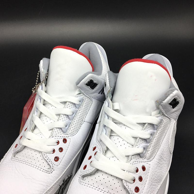 Beste Verkauf NRG 3 Justin Timberlake Basketball Schuhe Für Männer Weiß Feuer Rot Zement Schwarz Herren III JTH Sport Turnschuhe Mit Box AV6683-160