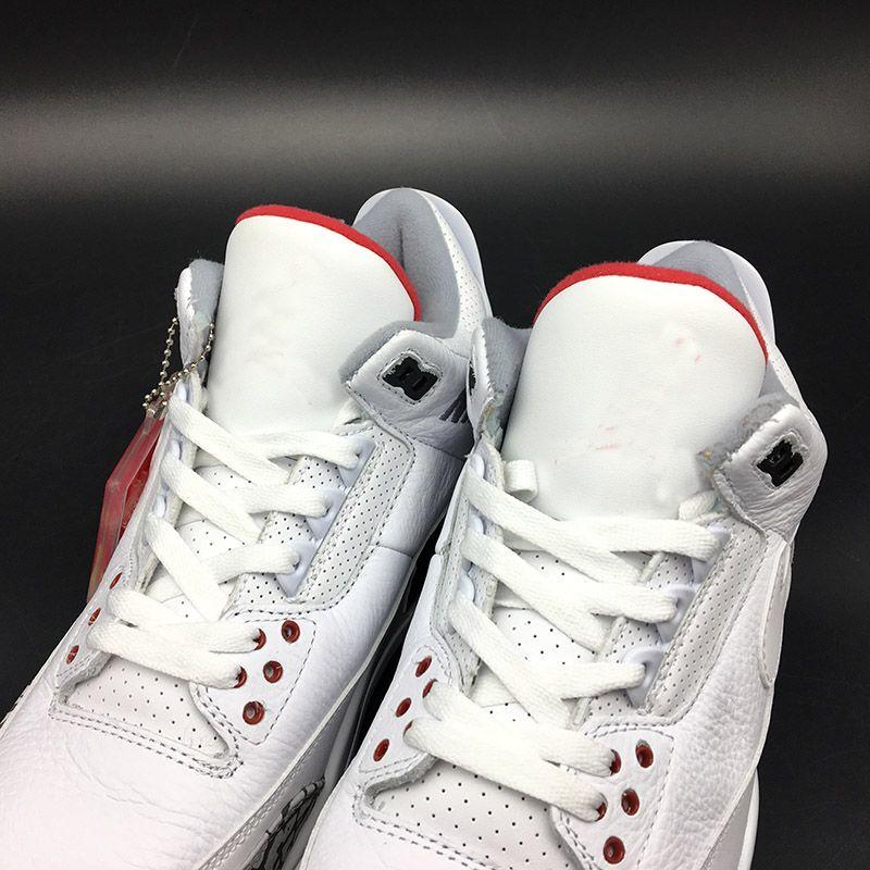 La mejor venta NRG 3 Justin Timberlake Zapatillas de baloncesto para hombre Blanco fuego Cemento rojo Negro Hombres III JTH Zapatillas deportivas con caja AV6683-160
