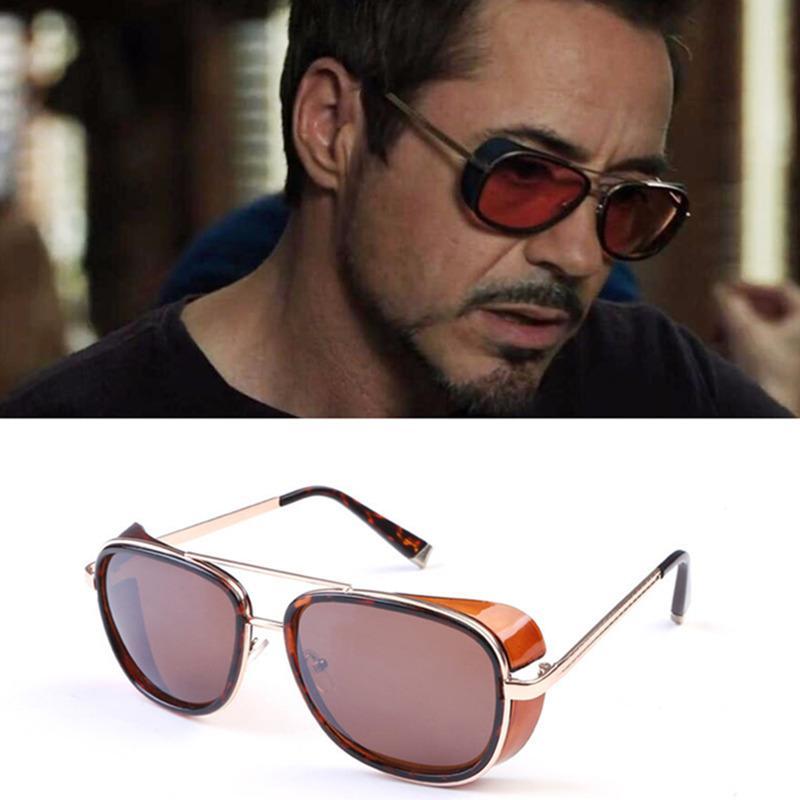 Compre OLOEY Homem De Ferro 3 TONY Stark Óculos De Sol Dos Homens  Revestimento Retro Vintage Designer Óculos De Sol Oculos Masculino Steampunk  Eyewear De ... 5b4cfbdaac