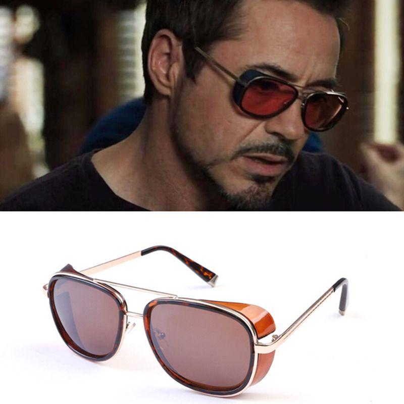 048b3ef1ce OLOEY Iron Man 3 TONY Stark Sunglasses Men Coating Retro Vintage Designer  Sun Glasses Oculos Masculino Steampunk Eyewear De Sol Baseball Sunglasses  John ...