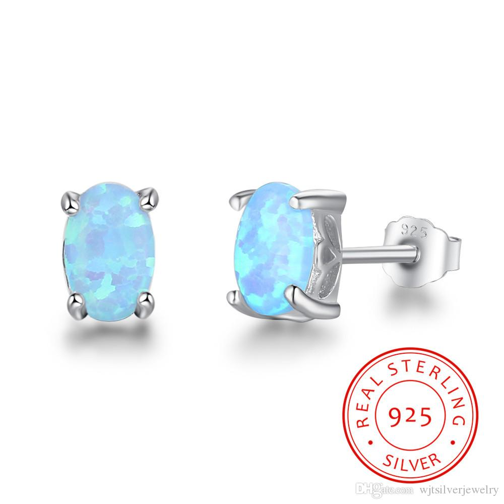 product round cubic real hub zirconia fire opal elegant silver sterling earrings gift stud best women lam jewelry fong index blue for
