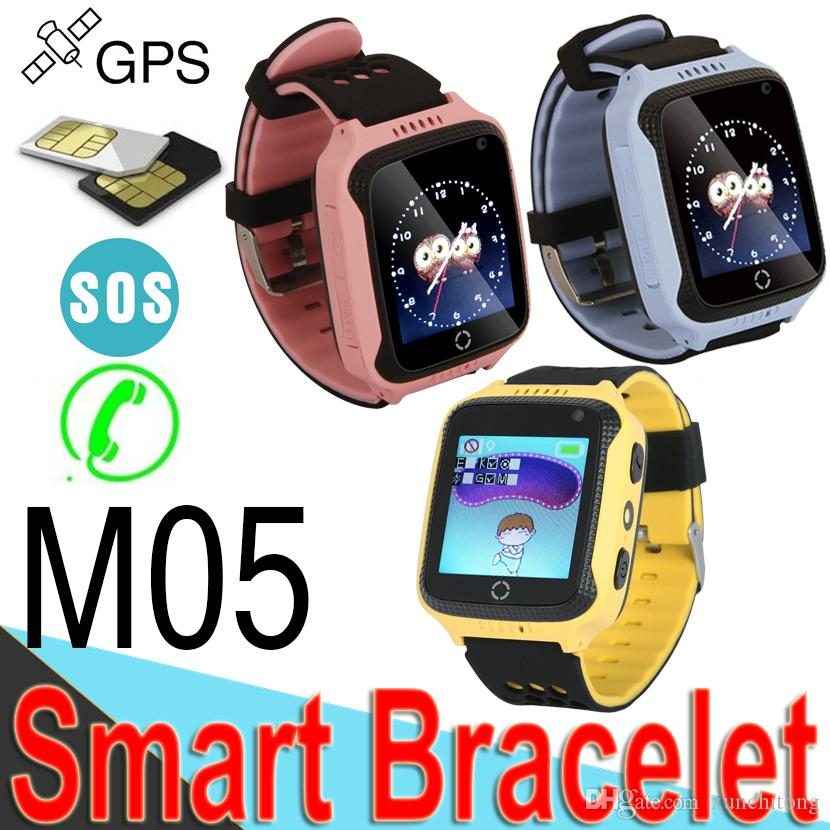M05 Smart Watch for Kids GPS Watch Cell Phone Smart Baby Watch Electronics Pink Blue Color for Apple Android M11