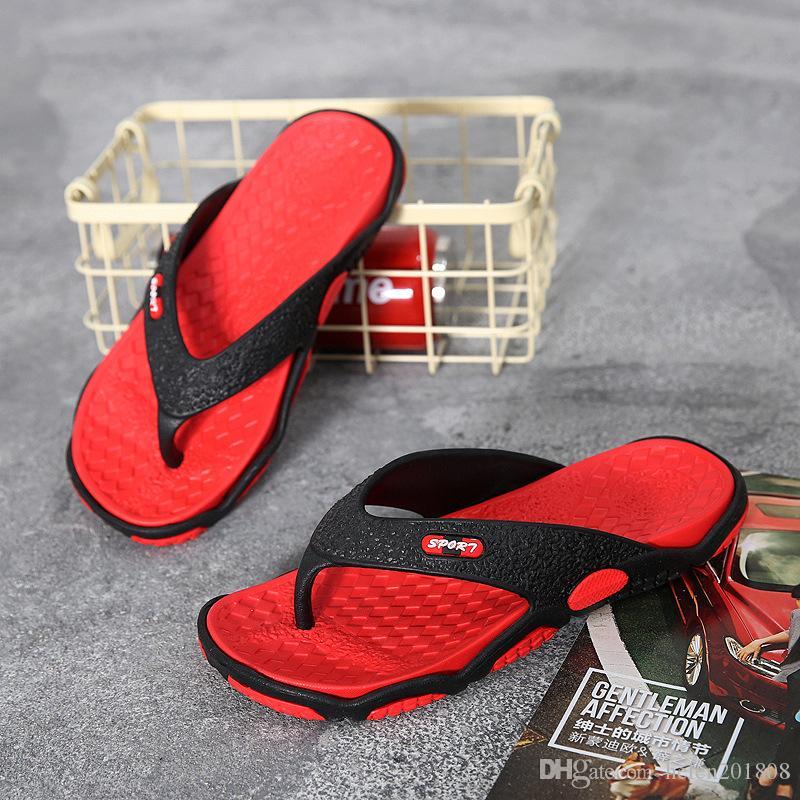 28bf466b5fba Men Summer Breathable Flip Flops Lightweight Outdoor Beach Slippers ...