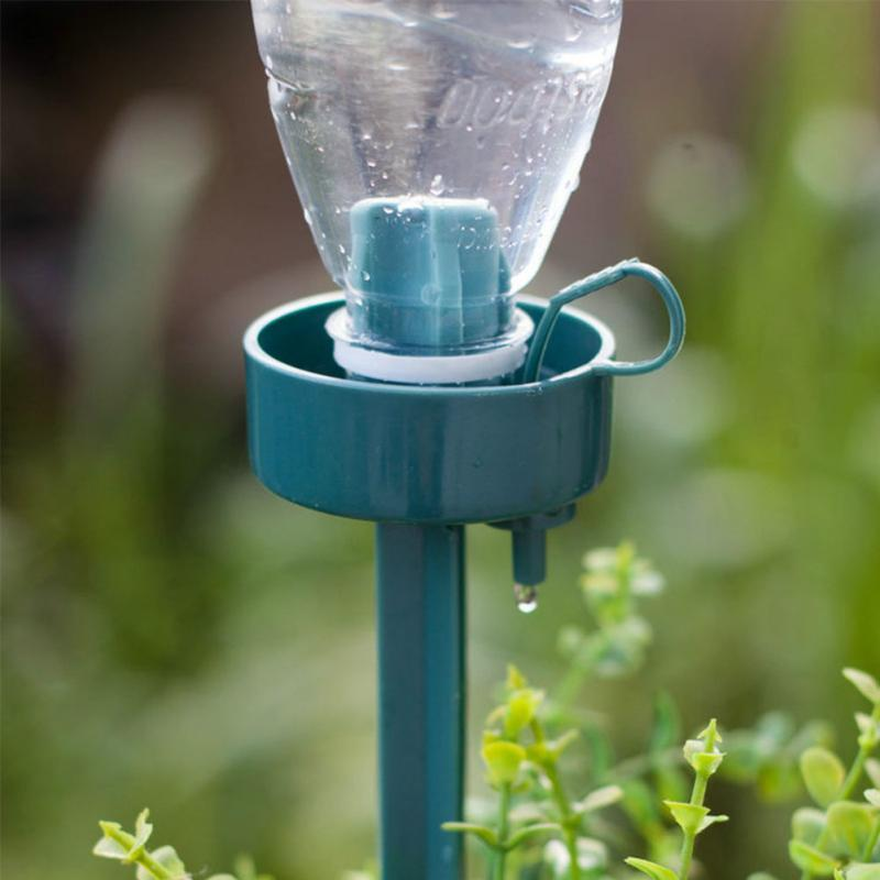 4pcs Automatic Self-Watering Seepage Moving Plant Waterer Bottles Lazy Flower Water Drip Irrigation Device Controller