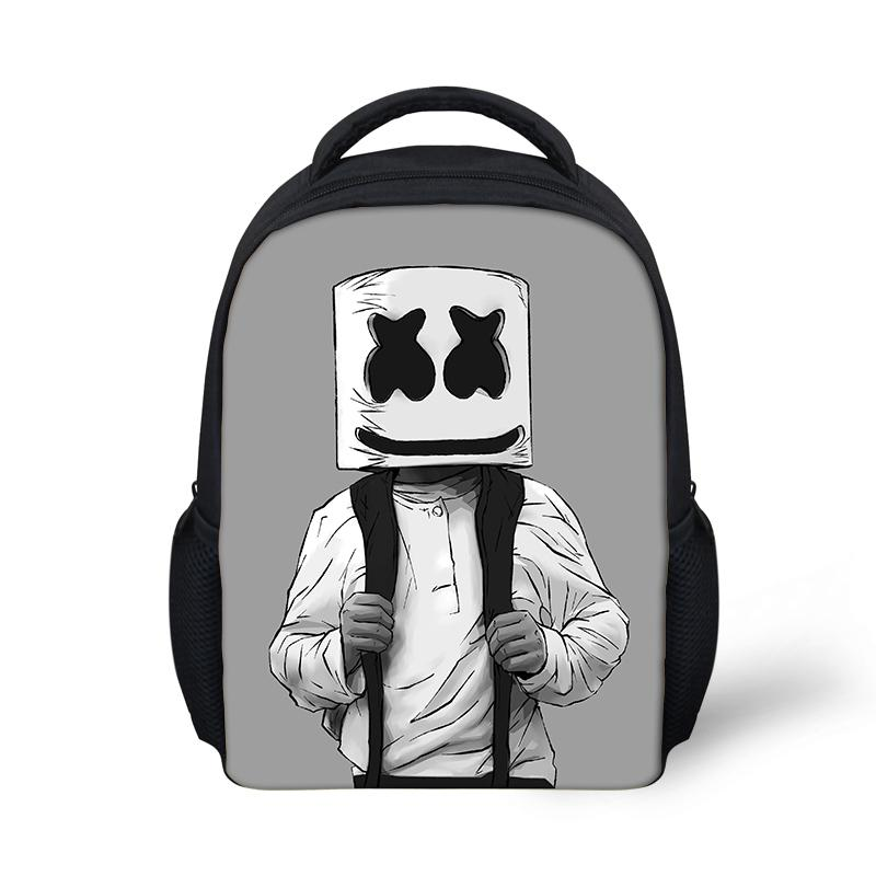 ed63f16e59ca School Bag Marshmello Backpack For Kids Boy Girls Female Backpack Printing Schoolbag  School Supplies Casual Mask DJ Satchel Backpacks For School Laptop ...