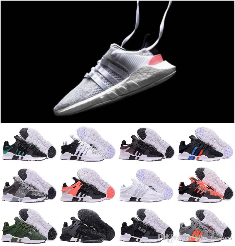 5492a9fd5ab5ff Acheter Top Qualité 2018 Ultra Boost EQT Support Future Boost 93 17 Blanc  Noir Rose Hommes Femmes Chaussures De Sport Sneakers RunNING ShOes Taille  36 45 De ...