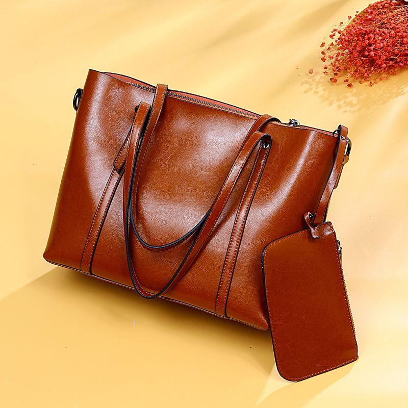 rivenditore di vendita 4136a 15b7e Borsa a tracolla in vera pelle shopping bag con cerniera e shopping bag in  vera pelle europea e americana