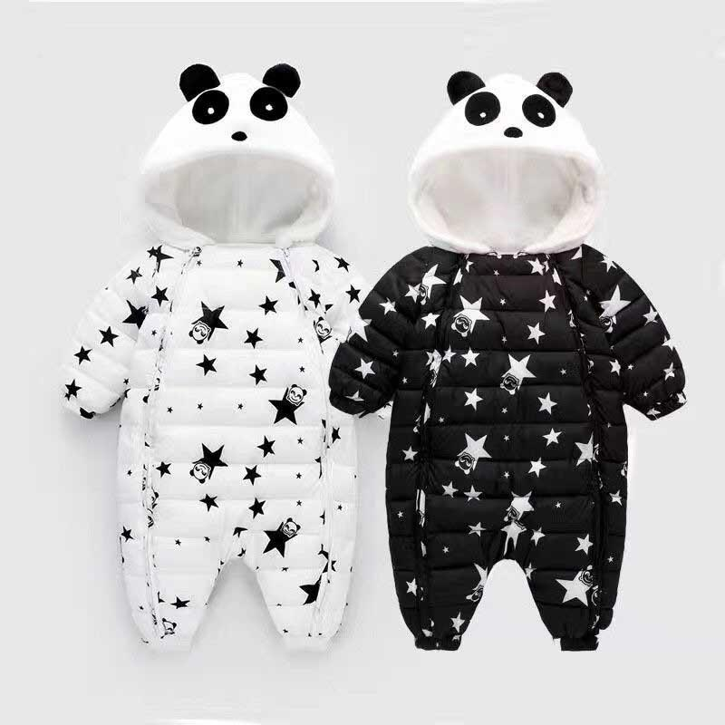 b89ac57a7 Baby Rompers Winter Newborn Boys Girls Thick Warm Rompers Jumpsuit ...