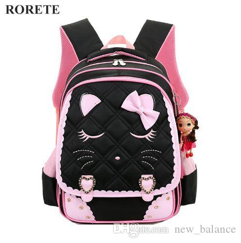 974db9452690 Kids Cartoon School Bags Children Backpacks Waterproof Nylon Girl  Orthopedic School Bag Printing Backpacks Book Bag Mochilas Waterproof Rucksack  Girls ...