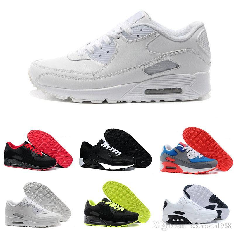 the best attitude 4064a b5d12 Großhandel 2018 Nike Air Max 90 Heißer Verkauf Männer Frauen Schuhe  Klassische Männer Und Frauen Casual Outdoor Schuhe Kissen Oberfläche  Atmungsaktive ...