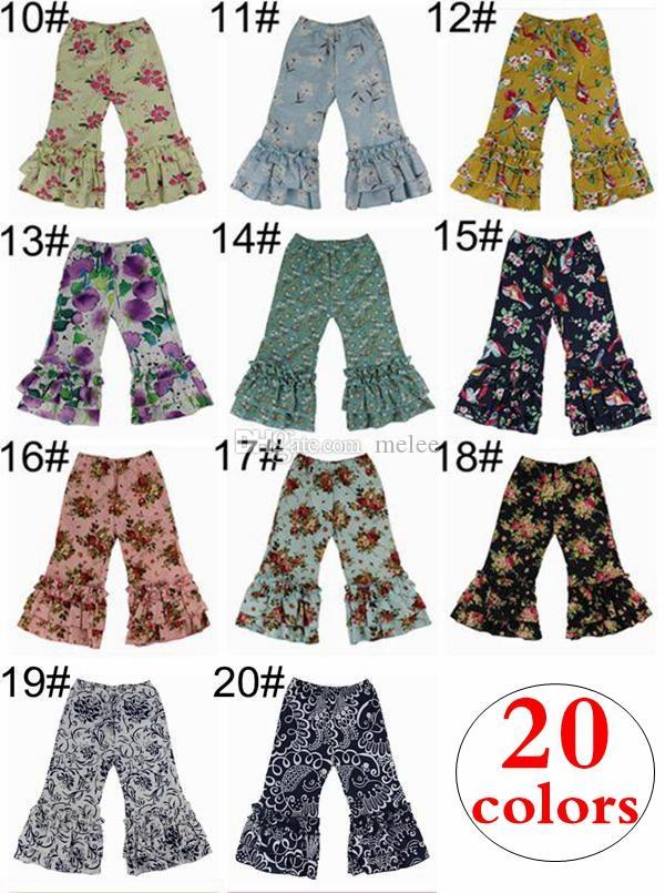 6001ac29f ins otoño primavera niñas pantalones con volantes moda niños pantalones  harén bebé algodón medias leggings para niños sólidos pantalones ...