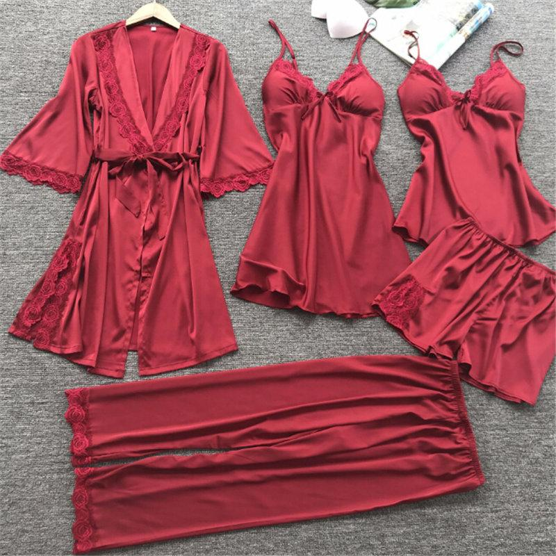 2019   Set Women Pajamas Autumn Full Sleeve Nightwear Satin Silk Pants  Pajama Sets Women Brand Pajamas Sexy Sleepwear M L XL From Sweatcloth 87b70b4c6