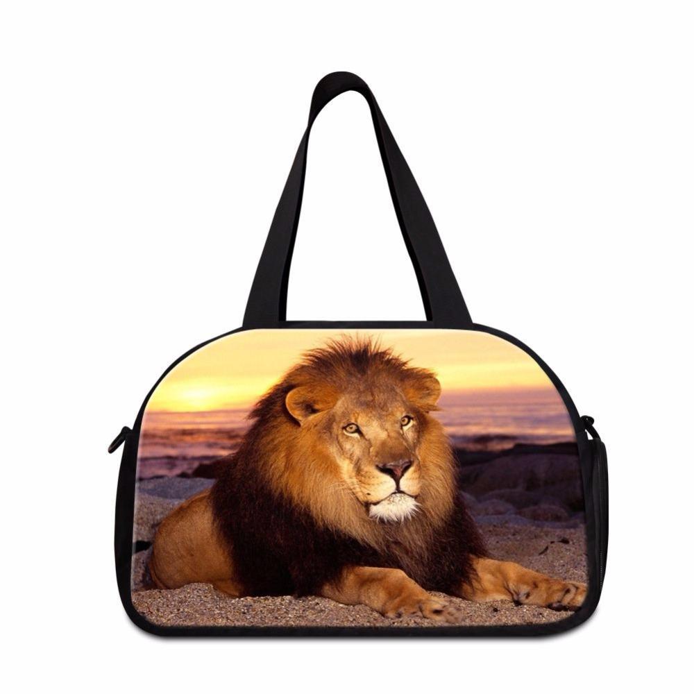 Dispalang Cool Workout Duffle Bag Lion Print Organizer Duffle Bags ... 5fe536a853dd3