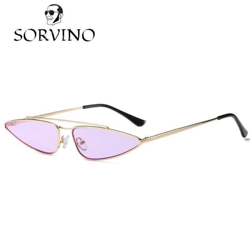 710874c74e SORVINO 90s Slim Sharp Cat Eye Retro Sunglasses Women 2018 Vintage CATEYE  Sun Glasses Shades Wire Metal Frame Sexy Narrow Skinny Purple Sunglasses At  Night ...