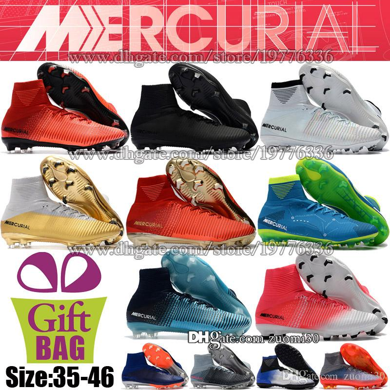 13a06283b 2019 Original Mercurial Superfly CR7 FG AG TF Soccer Shoes For Kids Women  Soccer Boots Cristiano Ronaldo Boys Neymar JR Football Cleats US 3 12 From  Zuomi30 ...