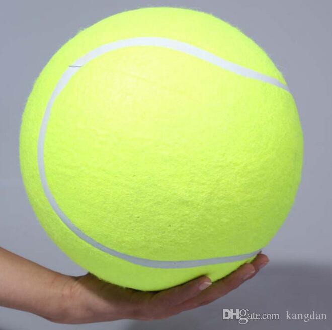 24 CM büyük Tenis Topu oyuncak pet köpek şişme Tenis Topları çiğnemek oyuncak 9.5 inç Dev Pet Oyuncak Mega Jumbo Çocuk Oyuncakları Topları Açık