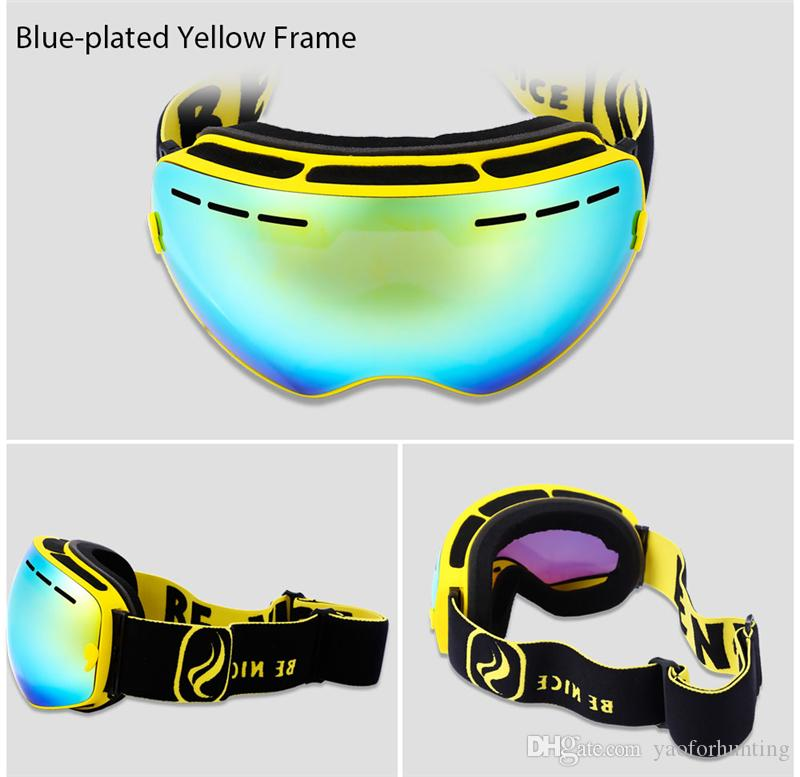 69e1f28d2aa Be Nice Double Lens UV400 Anti-Fog Big Spherical Skiing Glasses Snow ...