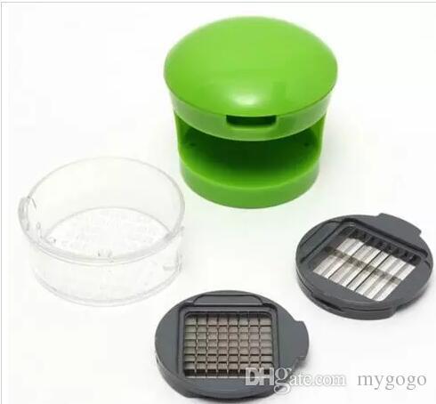 Pratico kit di utensili da cucina la casa Aglio Press Chopper Affettatrice a mano Pressatore di aglio Grinder Box confezione indipendente
